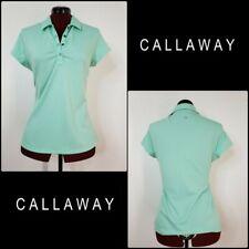 Callaway Golf Women Dri Fit Short Sleeve Polo Size Medium Teal Green