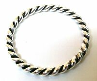Handmade 925 Sterling Silver Band 2 mm Twisted Rope Thumb Midi Stacking Ring J-T