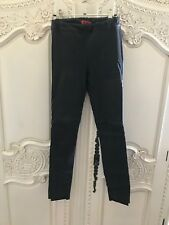 Manning Cartell Midnight Leather Pants Elastic Waist New Tube Skinny Pant Size 6