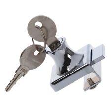 Stainless Stell Showcase Display Cabinet Glass Door Lock w 2 Keys FP