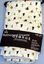 Mens S 28-30 Woven Boxer Shorts NEW Christmas Pine Tree Holiday Full cut Small