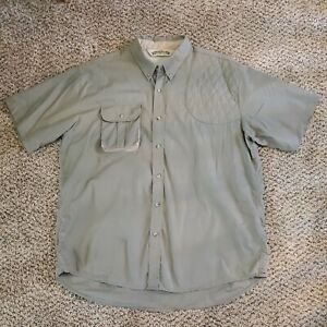 Bob Allen Mens Shooting Shirt 2XL Short Sleeve Button Down Hunting Vented Green