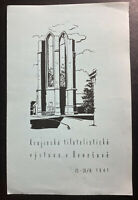 1941 Bohemia Morav Germany First Day Souvenir Sheet Cover Philatelic Exhibition
