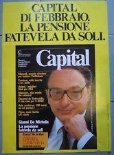 1984 - MANIFESTO EDICOLA - CAPITAL GIANNI DE MICHELIS - EDMOND ROTHSCHILD  (MAN)