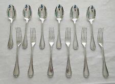 CHRISTOFLE : 6 couverts modèle MALMAISON (6 fourchettes 6 cuillères), m. argenté