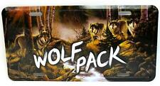 Wolf Pack Car Truck Auto Tag Novelty Metal License Plate Wolves Wall Decor