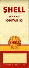 1954 Shell Road Map: Ontario NOS