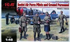 ICM SOVIET AIR FORCE PILOTS & GROUND PERSONNEL 1943/45 Scala 1:48 cod.48084