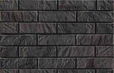 BRICK SLIPS CLADDING WALL TILES FLEXIBLE - 5 Sqm ( m2 ) - GRAPHITE BRICK
