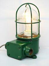 Green Maritime Salvaged Passageway Bulkhead Light Wall Mount Lamp Navigation