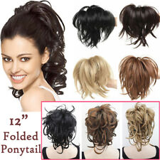Real Thick Claw On Ponytail Clip In Hair Extensions Mix Blonde Messy Pony Tail S