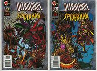 ULTRAFORCE SPIDER-MAN #1A & #1B NM/NM+ NEAR MINT PLUS Ultraverse Malibu Comics