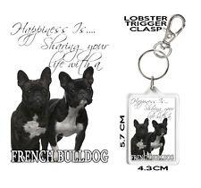 French Bulldog NASTRO Cordino di sicurezza Clip ID Badge Holder Frenchie Amante dei Cani