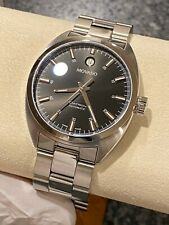 Movado Stainless Steel Datron Automatic Mens Watch Model 18.1.14.1069 Super Nice