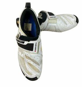 Louis Garneau Men's Tri X Speed White Cycling Shoes 47 EU