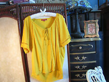 Anthropologie one september  short sleeve blouse S