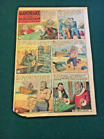1944 MANDRAKE THE MAGICIAN newspaper comic1-Page,,Good condition, 13'by'10