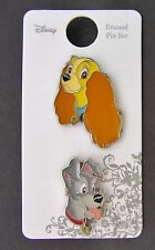 NEW - Disney Lady and The Tramp 2 Pin Set - Mint on Card