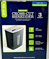 Pen Gear 3 Sheet Cross Cut Shredder Shreds Credit Card, small clips, Staples