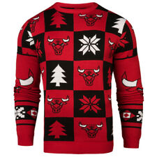 Chicago Bulls Patches NBA Ugly Crew Neck Sweater by Forever Collectibles