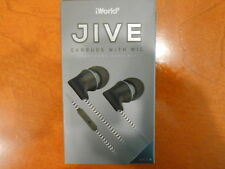 iWorld JIVE Earbuds MIC & REMOTE & Tangle Free Cable Earphones BLACK EJV-1000