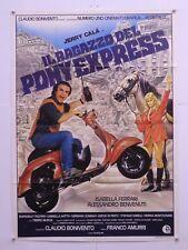 IL RAGAZZO DEL PONY EXPRESS commedia Amurri con J.Calà I.Ferrari manifesto 1986