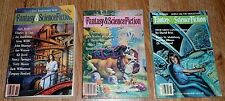 lot of 3 Fantasy & Science Fiction Issues : July 1986 / Mar 1990 / Oct Nov 1992