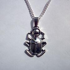 Egyptian Scarab Beetle Pendant Necklace