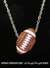 Crystal Football Necklace