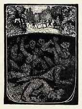 REVOLUTION - Robert BUDZINSKI  - um 1920 Holzschnitt