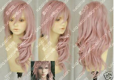 Hot Sell! Final Fantasy Lightning Srah New Long Mix Pink Cosplay Wig