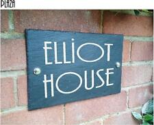 Natural Slate House Sign Art Deco Style 28cm x 18cm Any Name Any Number