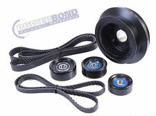POWERBOND 25% UNDERDRIVE BALANCER BELT & PULLEY KIT FOR VE COMMODORE L98 LS2 6L