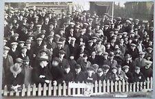 Brighton & Hove Albion 1931 folla scena VINTAGE CALCIO Cartolina