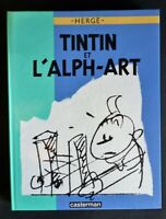 Edition originale 1986 Tintin et L'alph-art  par Hergé