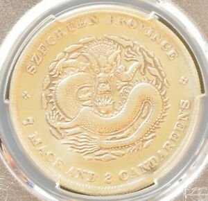 1901-1908 China Szechuan Silver Dollar Dragon Coin PCGS L&M-345 Y-238 VF Details