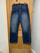 Voi Jeans Mens Straight Fit Denim Jeans Blue W30 L30 Immaculate Condition