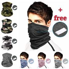 MultiUse Elastic Face Mask Cover Bandana Headband Scarf Unisex + 1 PM 2.5 Filter