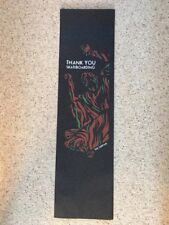 "Flik ""Thank you skateboarding"" Skateboard Griptape 9""X 33"" FREE SHIPPING"