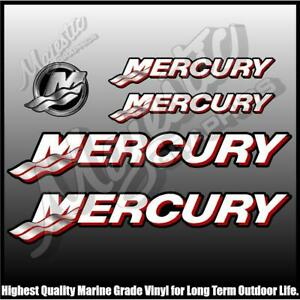 MERCURY - Suit Modern Mercury - Set of 5 Decals - OUTBOARD DECALS