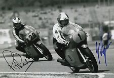 Giacomo Agostini and Phil Read Hand Signed MV Agusta 12x8 Photo MOTOGP 4.