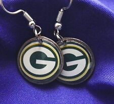 Green Bay Packers earrings on dime coin