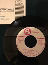 Rare  45 Betty Caron Fallin' In Love Is Fun F&L Records 1985 DJ Copy