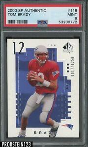 2000 SP Authentic #118 Tom Brady Patriots RC Rookie 917/1250 PSA 9