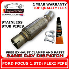 Ford Focus 1.8TDi 1999-2008 Escape Recambio Flexible Flexi Para Catalizador Tubo
