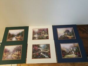 Thomas Kinkade SET Lithograph  prints COA