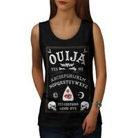 Wellcoda Ouija Horror Womens Tank Top, Spirit Sign Athletic Sports Shirt