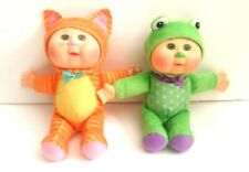 """Lot of 2 Authentic Cabbage Patch Kids Cuties Safari Friends """"Chiro & Kallie Used"""
