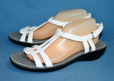 CLARKS 26068903 Sonar Astor Sandal in White Patent Wo's 11 Eu 42.5 T-Strap