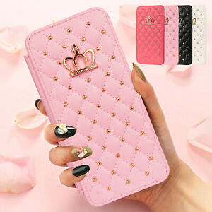 For Samsung Galaxy A12 5G A32 A52 A72 5G Wallet Leather Bling Glitter Case Cover